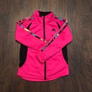 Adidas Girls Size 5 Track Jacket Pink
